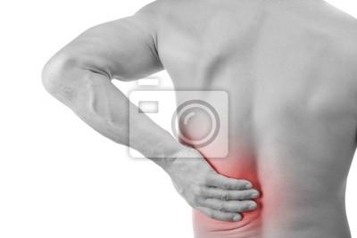 homme avec des maux de dos