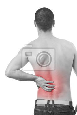 homme ayant un mal de dos