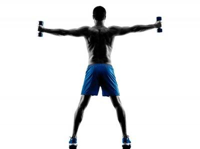 Sticker Homme, exercisme, poids, silhouette
