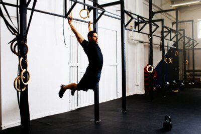 Sticker Homme, gymnase, exercice, kipping, pull-ups