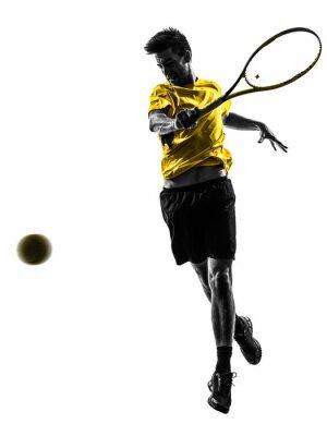 Sticker homme joueur de tennis silhouette