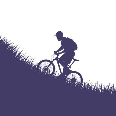 Sticker homme sur silhouette de vélo