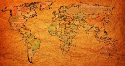 Sticker hongrie territoire sur la carte du monde