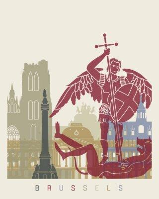 Sticker Horizon de Bruxelles affiche