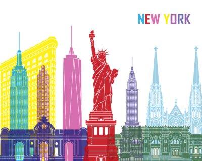 Sticker Horizon de New York pop