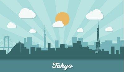 Sticker Horizon de Tokyo - design plat