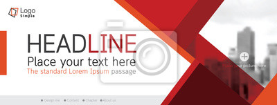 Sticker Horizontal web banner, vector template, with space for your picture