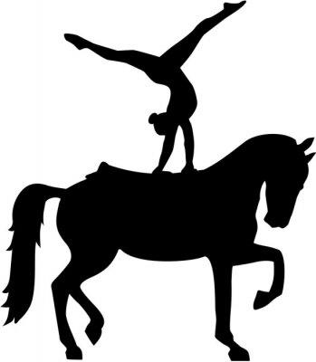 Sticker Horse Voltige silhouette Voltigieren