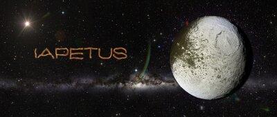 Sticker Iapetus dans l'espace extra-atmosphérique.