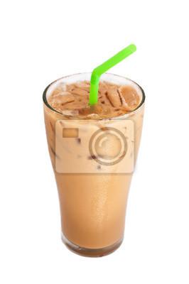 Ice café au lait, isolé sur blanc