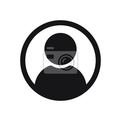Sticker Icône d'utilisateur dans le style plat, Icône de personne, Icône d'utilisateur pour site web, Illustration vectorielle d'icône utilisateur
