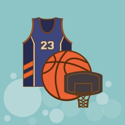 Sticker Icône de basket-ball