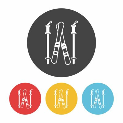 Sticker Icône de bord de ski