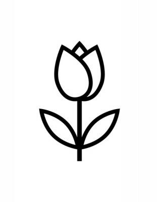 Sticker icône de fleur de tulipe