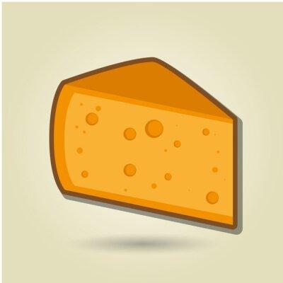 Sticker Icône de fromage
