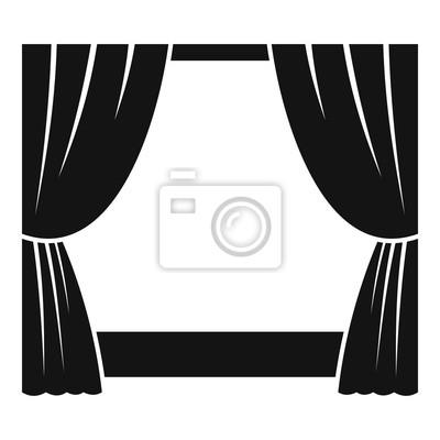 Sticker Icône de la scène théâtrale. Illustration simple d'icône de vecteur de scène théâtrale pour la conception web isolée sur fond blanc