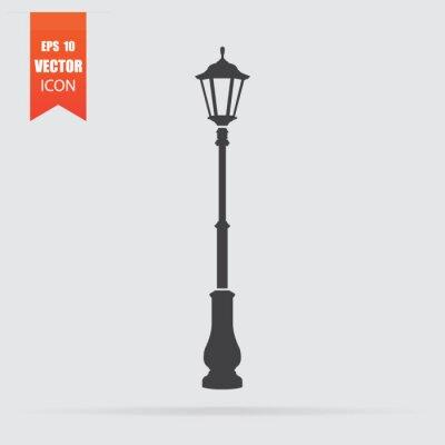 Sticker Icône de lumière de rue en style plat isolé sur fond gris.