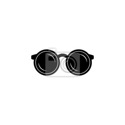 9dcd33226b Sticker Icône de lunettes de forme ronde. Icône de l'élément de cadre de