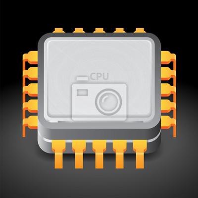 Icône de microprocesseur