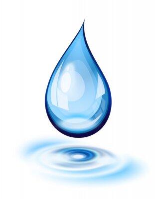 Sticker icône goutte d'eau
