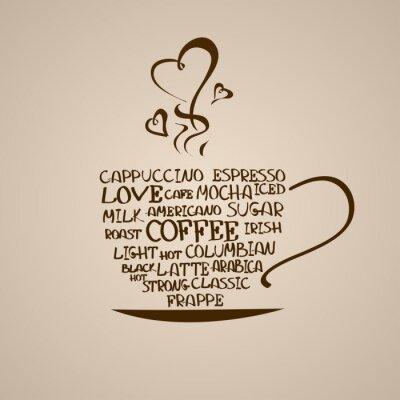 Sticker Icône isolé tasse de café