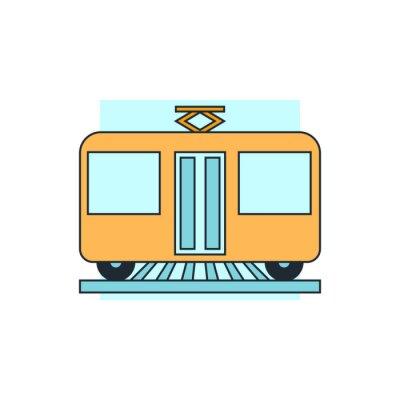 Sticker Icône tram view front