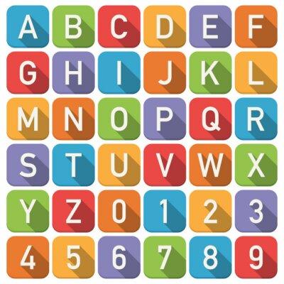 Sticker icônes de l'alphabet