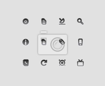 Icônes de l'interface