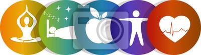 Sticker icônes de soins de santé, de couleur arc-en-