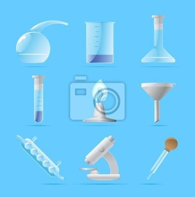 Icônes pour laboratoire chimique