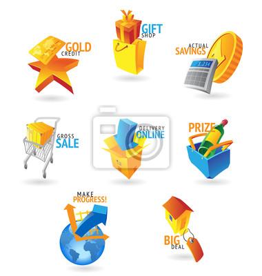 Icônes pour le commerce de détail et