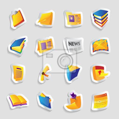 Icônes pour les livres et les papiers