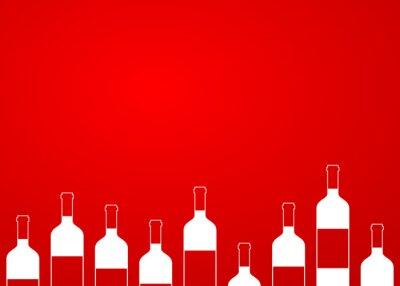 Sticker Icono plan de bouteilles de vin sans alignement sur fond de dégradé # 1