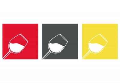 Sticker Icono plano copa de vino # 3