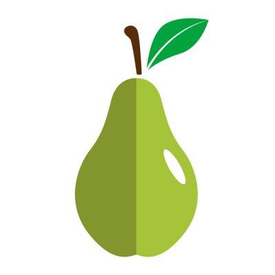 Sticker Icono plano pera