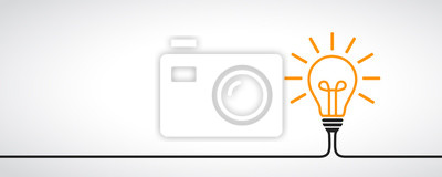 Sticker Idée, ampoule de signe concept créatif - vecteur