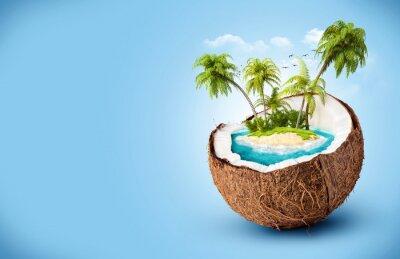 Sticker île tropicale