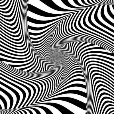 Sticker Illusion de mouvement de torsion de torsion.