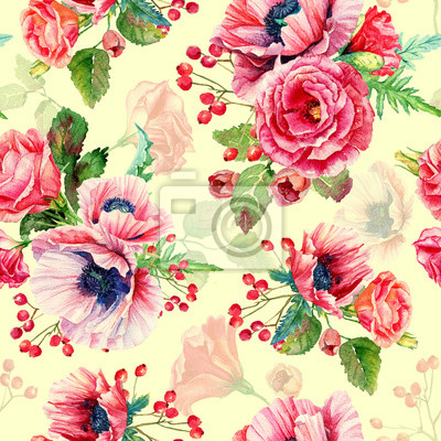 Illustration de fleurs. Vintage. Peut être utilisé pour le papier d'emballage cadeau.