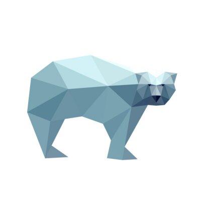 Sticker Illustration de l'ours polygonale