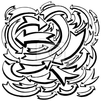 Illustration des flèches et des directions