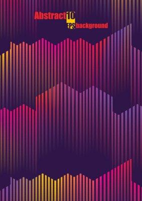 Sticker Illustration musicale colorée abstraite. Illustration vectorielle EPS10