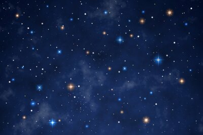 Sticker Illustration of a beautiful night sky