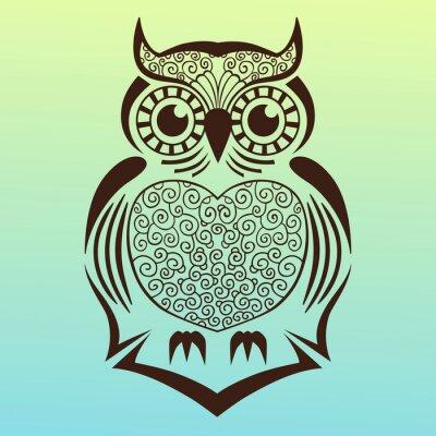 Sticker Illustration owl.vector.