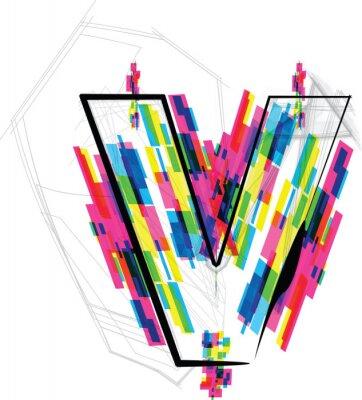 Sticker Illustration police. LETTRE c Vector illustration