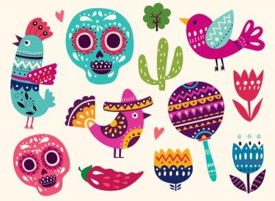 Sticker Illustration, Symboles, Mexique