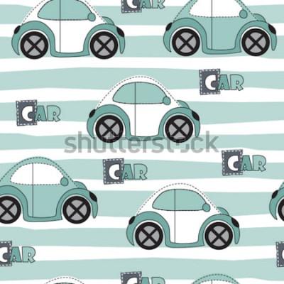 Sticker illustration vectorielle de voiture modèle