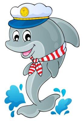 Sticker Image avec thème dauphin 1