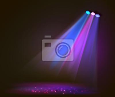 Sticker Image de fond des projecteurs avec scène en couleur