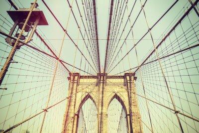 Sticker Image rétro tonique du pont de Brooklyn, NYC.